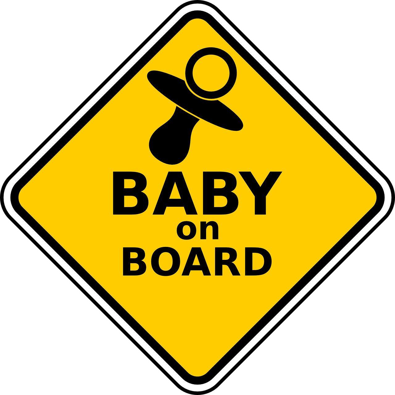 'Baby On Board' sign Providence Moms Blog