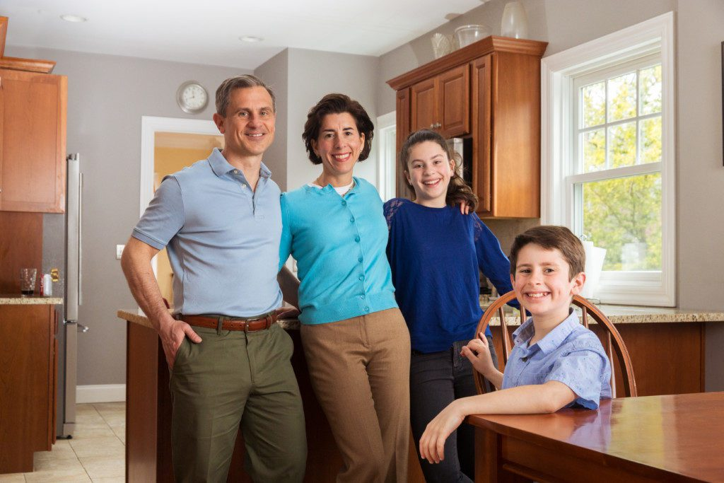 First Gentleman Andy Moffit, Governor Gina Raimondo, Ceci Moffit and Tommy Moffit Providence Moms Blog