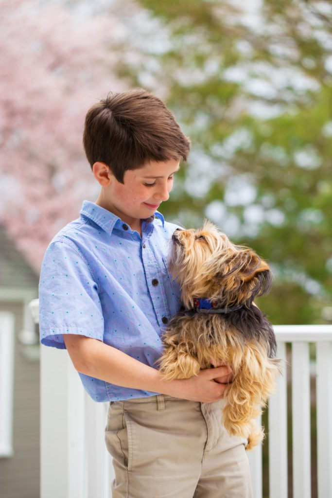 Tommy Moffit and his dog, Sparky Providence Moms Blog