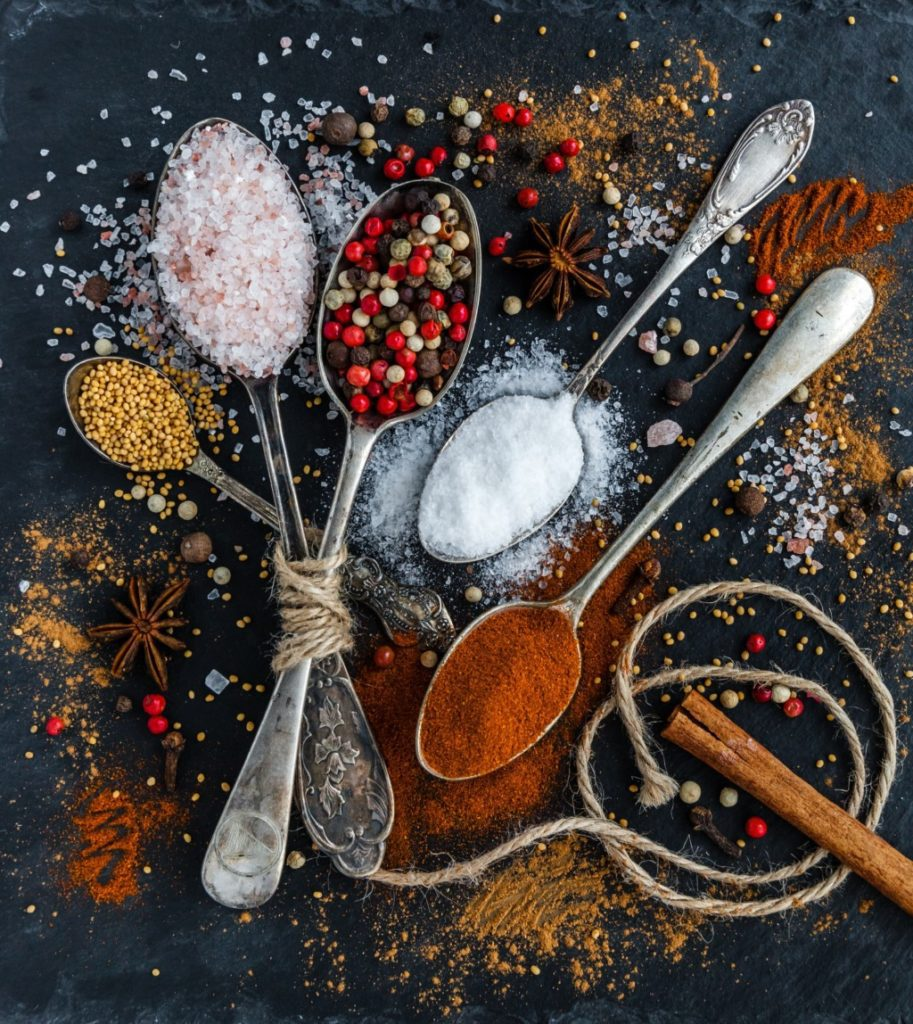 spices and herbs on spoons Providence Moms Blog