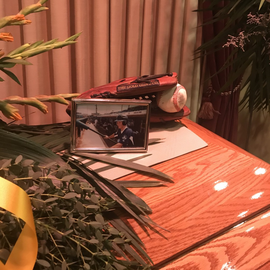 picture frame and baseball glove and ball on table Providence Moms Blog
