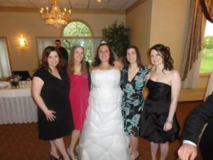 friends at wedding Providence Moms Blog