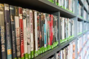 DVDs on shelf Providence Moms Blog