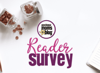Providence Moms Blog Reader Survey image with pen