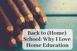 "Colored pencils and the text ""Back to (Home) School: Why I love Home Education. Providence Moms Blog"