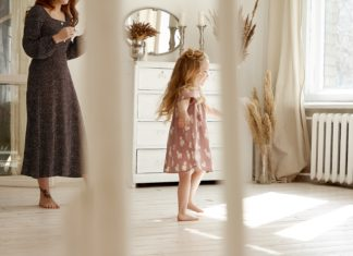 young child dancing   stages of motherhood   Providence Mom