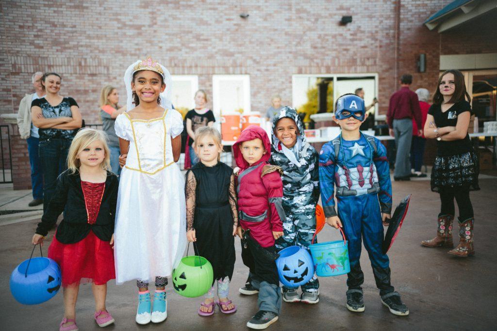 children dressed for halloween events in rhode island