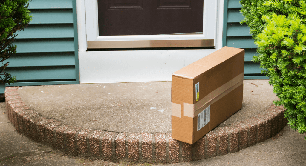box on doorstep | Amazon | Providence Mom