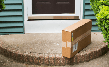 box on doorstep |Amazon parenting | Providence Mom