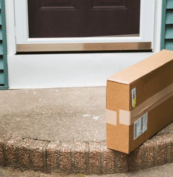 box on doorstep |Amazon parenting | Providence Mom