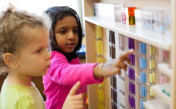 student at Ocean State Montessori School
