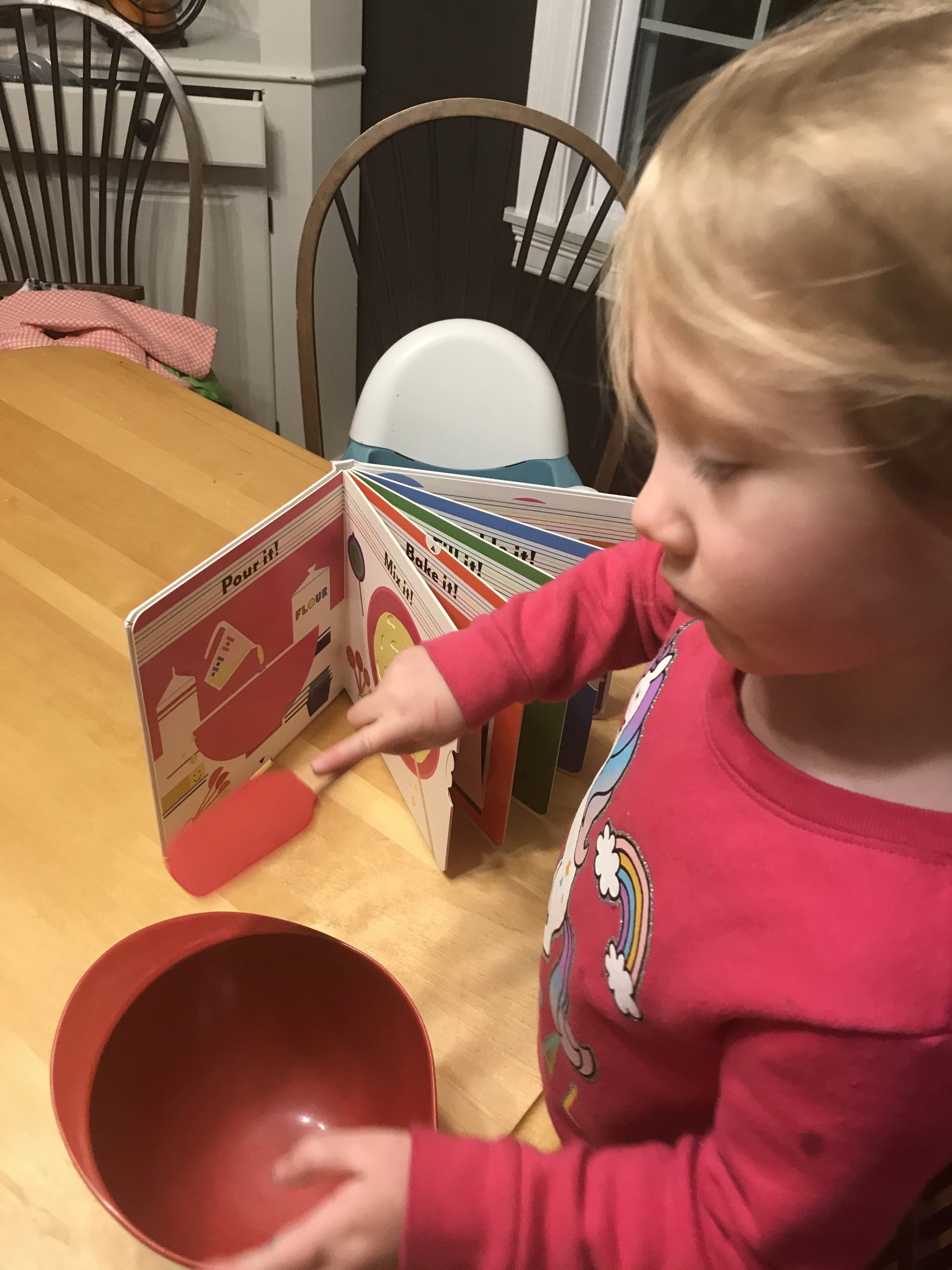 child mixing with Bake A Rainbow Cake! by Amriah Kassem