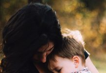 mom and son hugging | mom guilt