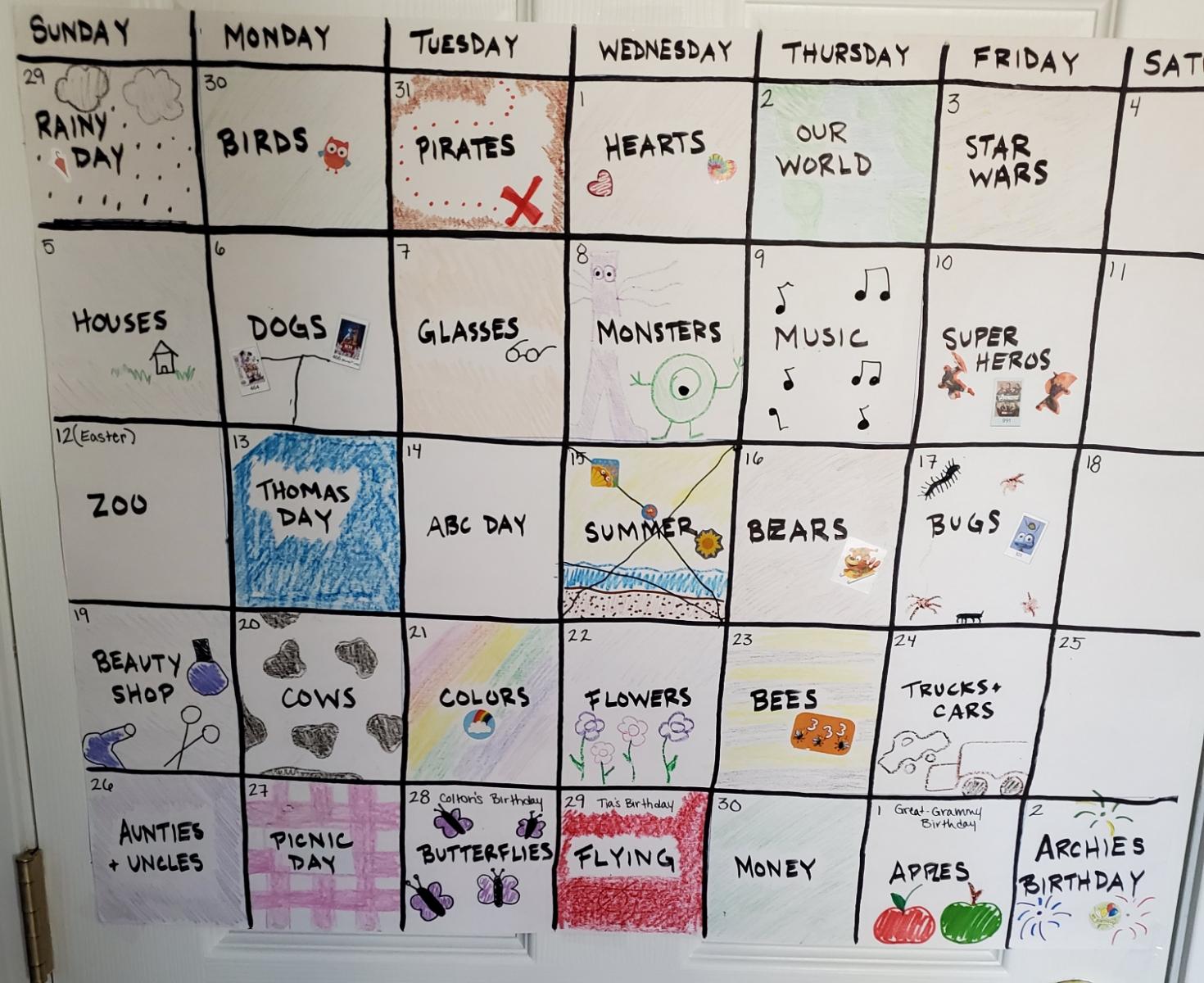 Theme Day Calendar