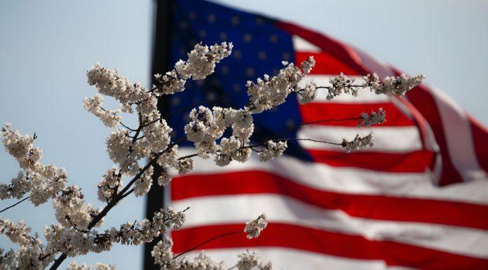 American flag January 6 2021